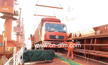 2 Units Dongfeng Suction Sewage Truck and Wrecker Truck Delivery to Cambodia