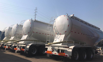 Dongfeng 20 units 3 axle 40m3 48T Bulk Cement Tanker Trailer Delivery On Vessel To Bangladesh