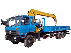 Dongfeng DFD1254GJ2 6x4 8T Truck Mounted With Crane