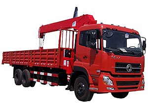 Dongfeng DFL1250 6x4 10T Truck Mounted With Crane